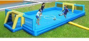 sportspower inflatable soccer field sports gift backyard outdoor