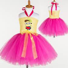 aliexpress com buy baby princess minion tutu dress children