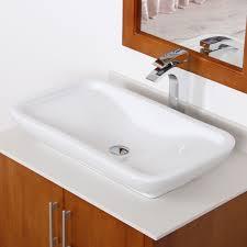 elite ceramic bathroom sink with unique rectangle design tr40155