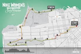 nike map course for nike s half marathon san francisco revealed