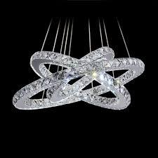 modern diamond ring led k9 crystal chandelier light fixture for