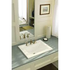 White Drop In Bathroom Sink Kohler Tresham Drop In Bathroom Sink In White Best Bathroom