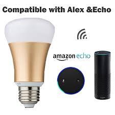 alexa controlled light bulbs zemismart wifi rgb led bulb light remote control via app no hub