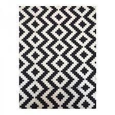 bw geometric ikea canvas rug durable emerald carpet backing