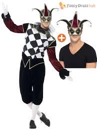 ladies clown halloween costumes mens ladies harlequin jester cotume gothic circus halloween