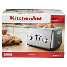 Red Kitchenaid Toasters Kitchenaid 4 Slice Toaster Silver Meijer Com