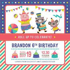 invitation card cartoon design kids birthday invitation card stock vector illustration of cartoon
