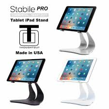 amazon com thought out stabile pro adjustable ipad stand pro air amazon com thought out stabile pro adjustable ipad stand pro air 2 12 9 10 5 9 7 surface galaxy tablet holder pivoting black computers accessories