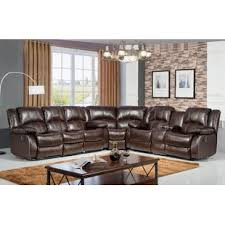 Curved Sectional Sofa With Recliner Curved Reclining Sectionals You Ll Wayfair