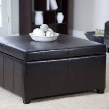 Ottoman Black Leather Masculine Black Leather Storage Ottoman Home Improvement 2017