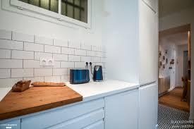 la cuisine au un appartement de 53m2 à de la cuisine au séjour cloison