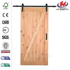 Knotty Alder Interior Door by China Z Bar Knotty Alder Interior Barn Door Slab Manufacturers