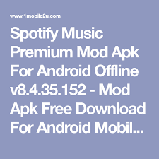 spotify android hack spotify premium mod apk for android offline v8 4 35 152