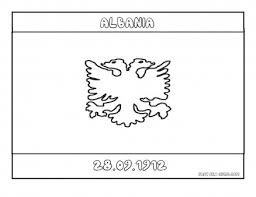 printable flag of albania coloring page printable coloring pages
