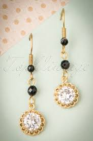20 s earrings 20s gold plated agate and drop earrings