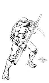 teenage mutant ninja turtles leonardo coloring free download