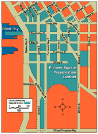 seattle map by district pioneer square neighborhoods seattle gov