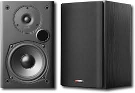 polk audio 5 1 4 bookshelf speakers pair black t15 black best buy