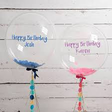 personalised birthday balloons personalised balloon in a box sport inpiration gallery