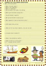 thanksgiving dates by year happy thanksgiving 2 page reading activity worksheet free esl