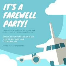 farewell party invitation farewell party invitation 2997 also blue airplane farewell party