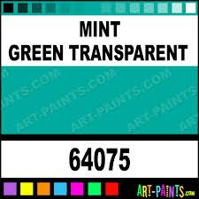 mint green transparent pro color airbrush spray paints 64075