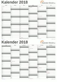 Kalender 2018 Für österreich Excel Kalender 2018 Kostenlos