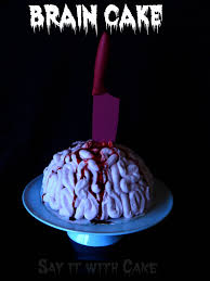 zombie brain freeze ice cream cake say it with cake
