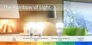 light bulb color spectrum lighting color temperature guide