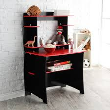 Black Computer Desk With Hutch by Legare 36 In Desk With Hutch Red And Black Hayneedle