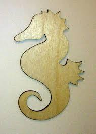 amazon com seahorse cut outs unfinished wood mini seahorses 3
