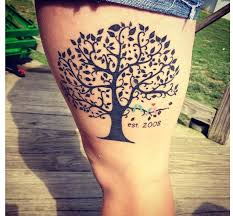 amazing tree on thigh photo pictures images and