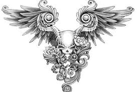 skull with angel wings tattoos meaning wings tattoo meanings