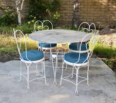 vintage metal patio furniture icamblog fascinating white high