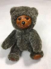 Wooden Faced Teddy Bears Wooden Bear Jointed Ebay