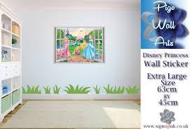 disney princess wall sticker 3d effect window view wall art decal description disney princess 3d window view wall stickers 0123031