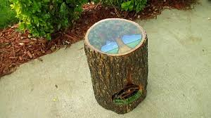 Tree Stump Side Table Make A Tree Stump Side Table