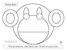 sock monkey face coloring pages