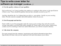 qa cover letter software qa manager cover letter