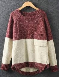 the sweater the contrast color sweater contrast color clothes