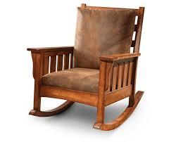 Mission Oak Rocking Chair Craftsman Rocker Furniture Row