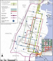 Hudson Bergen Light Rail Map City Of Hoboken Nj Hoboken Asks Commuters To Plan For Travel