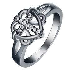 aliexpress com buy cross black ring for women gift new year 2017