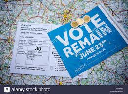 A Map Of France by Belfast Uk 23rd June 2016 A Polling Card A Map Of France With