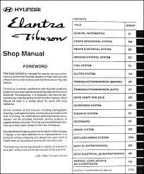 2000 hyundai elantra manual 2000 hyundai elantra and tiburon repair shop manual original