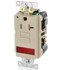 gfci receptacle with indicator light 20a 125v industrial grade self test gfci receptacle gfpl2 pl
