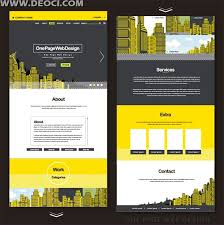 yellow and black abstract urban single page website design