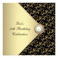 classy 50th birthday party invitations u0026 announcements zazzle