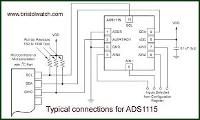 programming ads1115 4 channel i2c adc with arduino