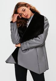 shearling coats for women missguided